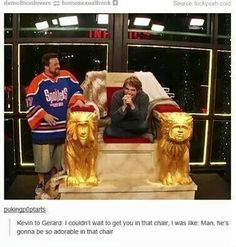 Omg how is gee so cute in that chair I mean he was cute before but now he's just plain adorable