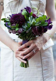 What do you think of the dark purple dahlias?