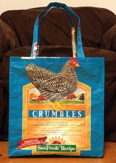 Repurposed Recycled Upcycled Chicken Feed by StonehavenFarmCrafts, $7.50