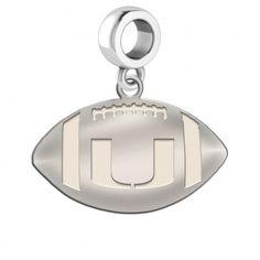 White Sterling Silver Charm Pendant Ohio NCAA Miami University 17 mm 16