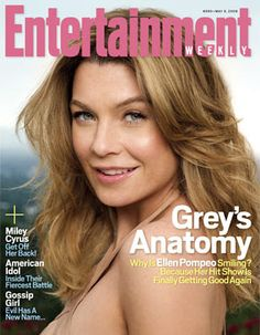 Ellen Pompeo- Entertainment Weekly- May Ellen Pompeo, Patrick Dempsey, Meredith Grey, Entertainment Weekly, Black Canary, New Names, Iconic Women, Miley Cyrus, Greys Anatomy