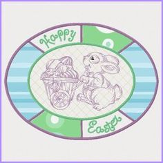 Easter Placemat (In-the-hoop) - Free Instant Machine Embroidery Designs