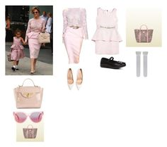 """""""Jennifer Lopez and daughter Emme LULAC Convention in NYC (7/10/2014)"""" by aylinbagirova on Polyvore featuring Jennifer Lopez, Zuhair Murad, Versace, Gianvito Rossi, Gucci, Carter's and MINKPINK"""