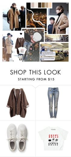 """Airplanes"" by minyxxngi ❤ liked on Polyvore featuring Anine Bing, adidas Originals and Seed Design"