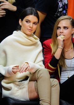 Basketball games are for high fashion models.