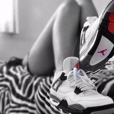 girl with jordans   Tumblr