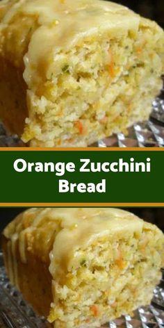 Orange Zucchini Bread Recipe, Easy Zucchini Bread, Yellow Squash Recipes, Zucchini Bread Recipes, Shredded Zucchini Recipes, Zucchini Bread Muffins, Zucchini Bites, Quick Bread, Baking Recipes