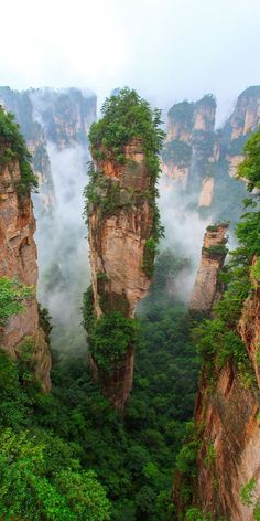 Our planet is full of surreal and otherworldly places, from lunar valleys to yellow lakes, just a plane ride away. #otherworldly #alienplace #travel #otherplanet #destination #surrealdestination Beautiful Places To Travel, Cool Places To Visit, Amazing Places, Tianzi Mountains, Best Travel Insurance, Nature Photography, Travel Photography, Landscape Photography, Fantasy Landscape