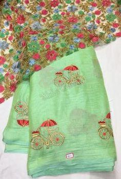 Latest Linen Jute Silk Sarees