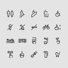 """filip piasecki on Instagram: """"Zestaw piktogramów dla ZTM. #icondesign #pictogram #symbol #identitydesign #brandidentity #branddesign #identity #eyeondesign #minimal…"""" Wayfinding Signage, Signage Design, Identity Design, Brand Identity, Icon Design, Icon Package, Navigation Design, Sign System, Doodle Icon"""