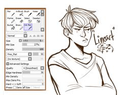sai lineart brush - Google Search