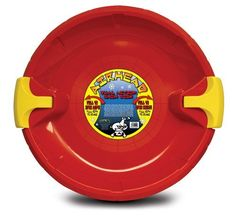 Kwik Tek Airhead Plastic Disc Sled with Brakes by Kwik Tek. $20.95. This is no ordinary snow disc.  You will love trhe steering and breaking action of AIRHEAD's Dual Action Snow Disc. Pull the left handle to go left, pull the right handle to go right.  Pull both to slow down or stop.