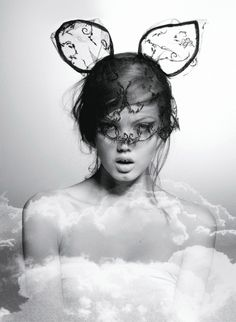 Lindsey Wixson photographed by Karl Lagerfeld for Document #2