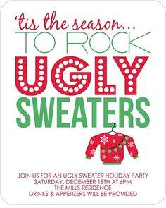 ugly sweater party!!! Hahaha!!!:)) I soooo wanna do this!!;))
