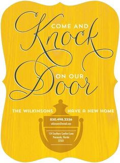 Knock on Over - Moving Announcements - Eleanor - Burst - Yellow | www.TinyPrints.com