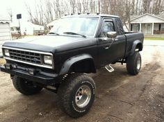 1986 lifted ford ranger mine was brown!
