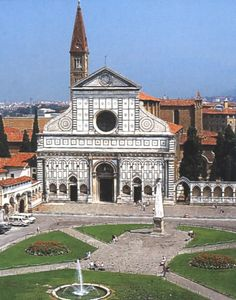 Church of Santa Maria Novella, Florence Italy, by Leon Alberti