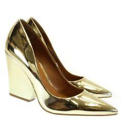 Scarpin Metalizado ouro light 0768 Moselle