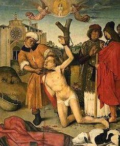Ayne Bru martyrdom of Saint Cucuphas Medieval Life, Medieval Art, Renaissance Art, Google Art Project, Horror Drawing, Occult Art, Sacred Art, Religious Art, Surreal Art