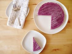 """WOW!!! So need to try this recipe!!!  For my gluten free/dairy free buddies . . . raw blueberry & lemon """"cheesecake""""."""
