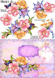 Husky 5 Flowery Lena on Craftsuprint designed by Jolis DeAngelis - So, what do you think of my new adornments