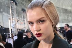 Cle de Peau at Rochas - natural and raw with a matte blackberry lip.