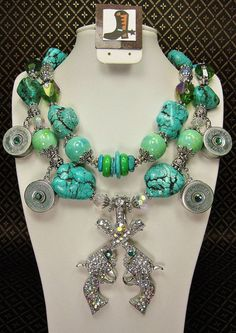 TURQUOISE Chunky Western Cowgirl Necklace by CayaCowgirlCreations, $62.50