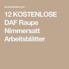 12 KOSTENLOSE DAF Raupe Nimmersatt Arbeitsblätter