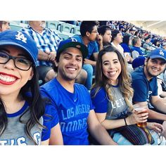 THINK BLUE: Good times with good company.  #latepost #dodgergame #laadventures #gododers #funtimes #itstimefordodgerbaseball by steph___ford