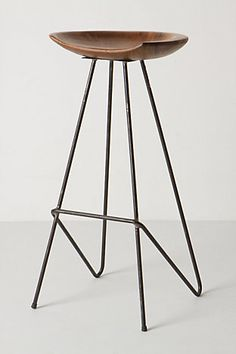 modern and minimal - nice wood & metal stool