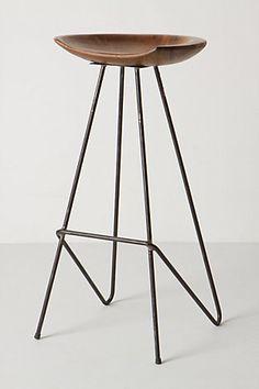 modern and minimal - nice wood & metal stool
