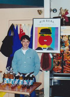 MA with the first Sir Real poster circa 1998