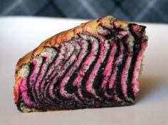 Ink & Zebra Striped Cake