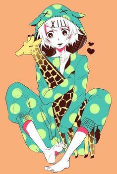 cute giraffe doll love cool susuya juzo anime tokyo ghoul art drawing