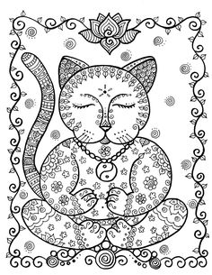 Coloring Book fantasy Cats Be the Artist 8 x 10 von ChubbyMermaid