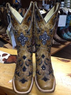 Corral Ladies Tan with Black Sequins Square Toe Boots Cowby Boots and Western Clothing Painted Cowgirl Western Store Cowgirl Boots, Western Boots, Western Wear, Head Over Boots, Westerns, Old Gringo Boots, Western Store, Country Boots, Wedding Boots