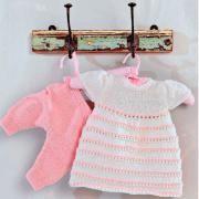 Платья платье в полоску и штанишки для маленькой девочки фото к описанию