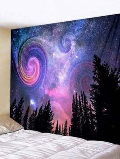 TSDA Pink Galaxy Tapestry Wall Hanging Art Space Tapestry for Living Room Bedroom Dorm Home Decor (Pink Galaxy Space Tapestry, Tapestry Bedroom, Bedroom Murals, Tapestry Beach, Mandala Tapestry, Tapestry Headboard, Bedroom Decor, Hanging Art, Tapestry Wall Hanging
