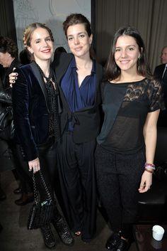 Eugénie Niarchos, Charlotte Casiraghi and Margherita Missoni