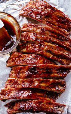Slow Cooker Ribs #cafedelites #pork #slowcooker #crockpot #recipes