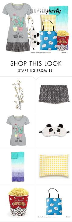 """""""Slumber Party"""" by skyequake on Polyvore featuring Pier 1 Imports, George, P.J. Salvage, PBteen, Unison, West Bend and slumberparty"""