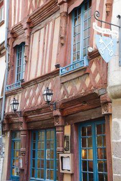 Un maison à colombage dans le centre-historique de Rennes - Bretagne