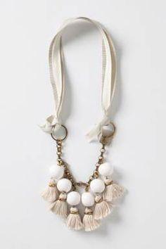 anthro tassel necklace DIY