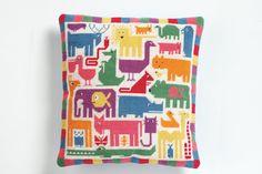 needlepoint/tapestry cushion kit - Rainbow Zoo