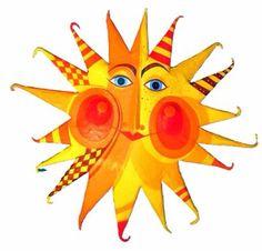 Pappmache - Sonne , Durchmesser ca.62cm, Pappmache - ein Designerstück von villaazula bei DaWanda