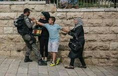 Another example of child abuse by Israeli Occupation soldier at Damascus Gate.