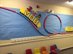 colossal coaster vbs decorating ideas Pool noodles for a roller coaster