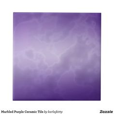 """Marbled Purple Ceramic Tile   Purple marbled image on a ceramic tile. You can click on """"Customize it!"""" if you'd like to add text or a photo."""