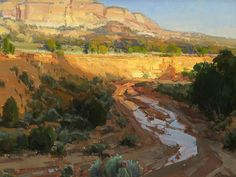 """Johnson Canyon Wash,"" by Kathryn Stats. http://www.outdoorpainter.com/artist-profiles/kathryn-stats.html"