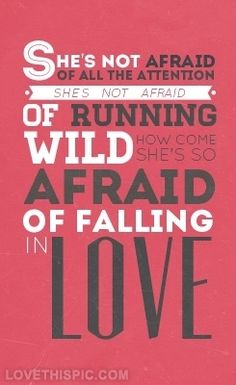 She's Not Afraid - One Direction one direction music typography song lyrics boy band she's not afraid